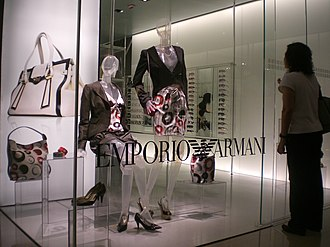 Italian design - Clothes by Emporio Armani, one of the most luxurious and famous Italian fashion houses