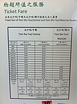 HK Central Piers interior exhibition of Star Ferry history 1999-2009 TST Ticket Fare List.JPG