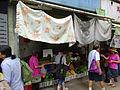 HK STT Shek Tong Tsui 屈地街 Whitty Street food vegetable stall shop visitors n cloth July 2015 DSC.JPG