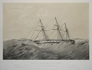 Thomas Goldsworthy Dutton - Image: HMS Dauntless (1847)