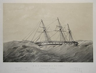 Alfred Ryder (Royal Navy officer) - The frigate HMS ''Dauntless'' which Ryder commanded during the Crimean War