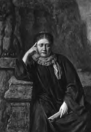 Incidents in the Life of Madame Blavatsky - Frontispiece: Mme. Blavatsky (painted by H. Schmiechen).