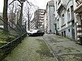 Hagen Treppenstrasse Blick aufs Sankt- Josefshospital mit 28 ^ steilste Sraße der Stadt - panoramio.jpg