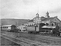 ההנהלה הראשית של הרכבת המנדטורית בתחנת הרכבת חיפה מזרח, שנת 1931