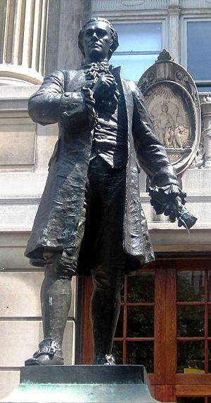 Hamilton Hall (Columbia University) - William Ordway Partridge's statue of Hamilton (2009)