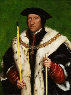 Thomas Howard, 3e duc de Norfolk par Hans Holbein.