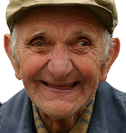 Happy Old Man-crop
