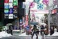 Harajuku Takeshita Street snow 2016-01-18.jpg