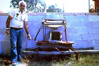Bellows - Old bellows used on goldfield near Milparinka, N.S.W., Australia. 1976.