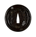 Haruta Hirotsugu - Tsuba with Autumn Flora and Insects - Walters 51392 - Back.jpg