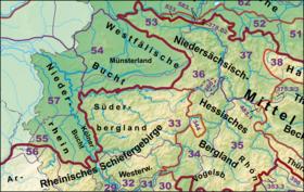 Der Südwestteil des Norddeutschen Tieflandes mit dem Niederrheinischen Tiefland (57)