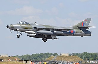 Hawker Aircraft - Hawker Hunter F.58 (UK code ZZ190, ex-Swiss Air Force)) of Hawker Hunter Aviation arrives at the 2018 RIAT, England