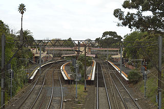 Railway station in Melbourne, Australia