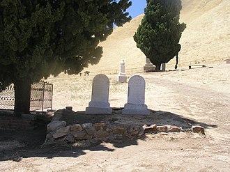 Black Diamond Coal Mining Company - Gravestones in Rose Hill Cemetery in the old Nortonville site at the Black Diamond Mines