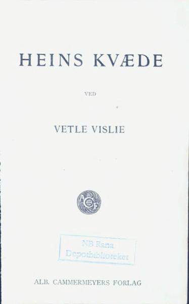 File:Heins Kvæde.djvu