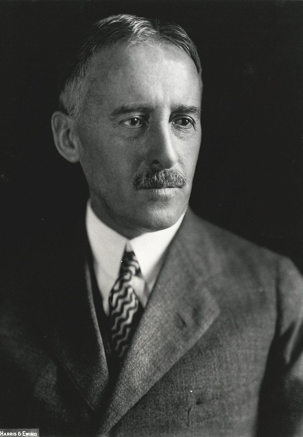 Henry Stimson, Harris & Ewing bw photo portrait, 1929