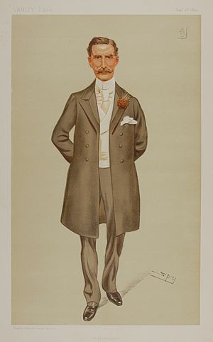 "Sir Herbert Maxwell, 7th Baronet - ""Wigtownshire"" Maxwell as caricatured by Spy (Leslie Ward) in Vanity Fair, September 1893"