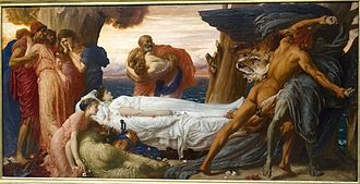 Admetus - Hercules Wrestling with Death for the Body of Alcestis by Frederic Lord Leighton, England (c. 1869-1871)