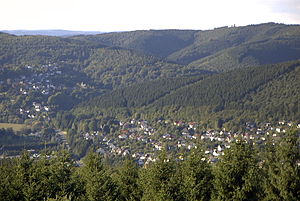 Westerwald - View of the northern Westerwald from the Otto Turm at Herkersdorf/Kirchen
