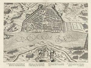 Siege of Nijmegen (1591) - Image: Het beleg van Nijmegen (1591) door Prins Maurits The siege of Nijmegen (1591) by Prince Maurice