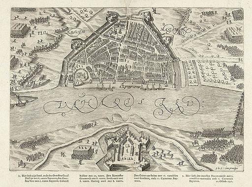 Het beleg van Nijmegen (1591) door Prins Maurits - The siege of Nijmegen (1591) by Prince Maurice