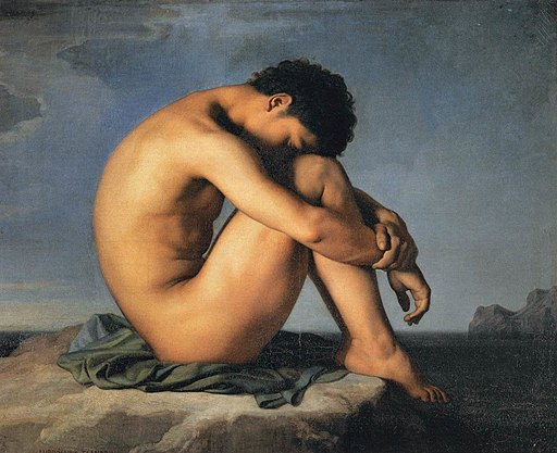 Hippolyte Flandrin - Young Man by the Sea - WGA07905