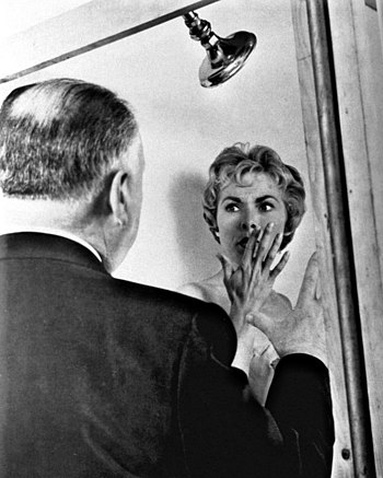 Alfred Hitchcock and Janet Leigh