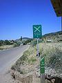 Hitos de la ruta de Don Quijote cerca de la localidad de Bienservida (Albacete).JPG