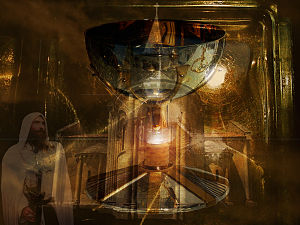 Mythology - Holy Grail digital art part of Christian mythology.