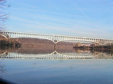 Homestead Grays Bridge river reflection.jpg