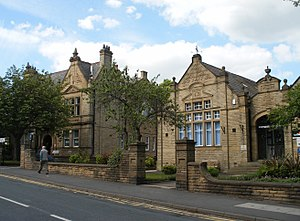 Horbury - Image: Horbury Town Hall and Library