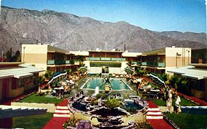 Palm Springs, California - A 1950s postcard publicizing one of the many hotels sprouting in Palm Springs during the early to mid-20th century