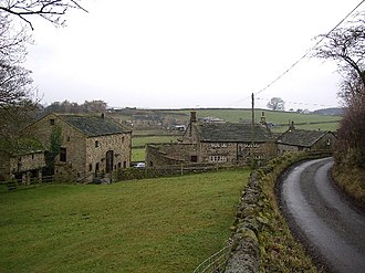 Norwood, North Yorkshire - Some houses near a country lane in Norwood