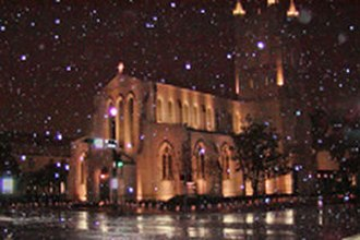2004 Christmas Eve United States winter storm - Trinity Church in Houston Christmas Eve 2004