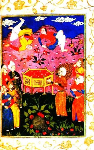 Hud (prophet) - Hud with the ʿĀd tribe Illuminated collection of Stories of the Prophets