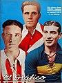 Hugo Lamanna (Talleres), Bernabé Ferreyra (River) y Francisco Varallo (Boca) - El Gráfico 699.jpg