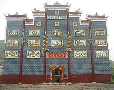 Hunan traditional temple front