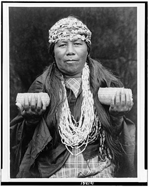 Hupa - Hupa female shaman, c.1923, Edward Curtis