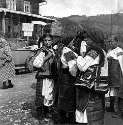 Huculoj en Verkhovyna urbocentro (Ukrainio), 1934.jpg