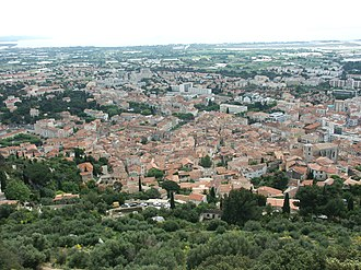 Hyères - A hillside view of the town