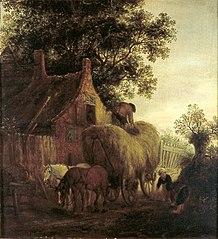 Farm with a Hay wagon