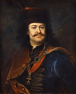 Francis Rakoczi, leader of the 1703-1711 Hungarian revolt; funded by France, this was a major distraction for Austria II. Rakoczi Ferenc Manyoki.jpg