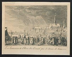 IJsvermaak aan de Schelde, bij Antwerpen in 1776