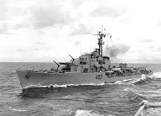 War of Attrition - Israeli destroyer INS Eilat that was sunk by the Egyptian Navy, killing forty-seven sailors.
