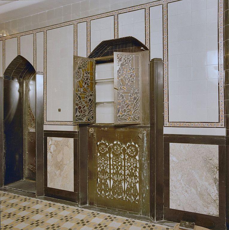 Fileinterieur Badkamer Art Deco Kast En Verwarming Den