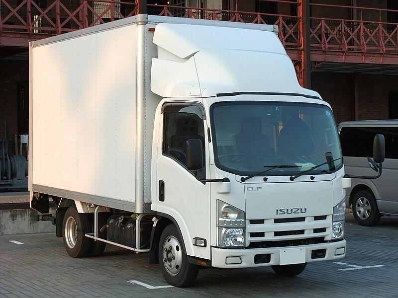 File:ISUZU ELF, 6th Gen, Hi-cab White Box truck.jpg ...