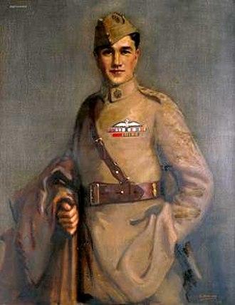 Albert Ball - Posthumous portrait of Ball by Edward Newling, 1919
