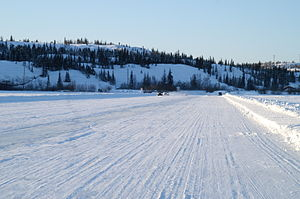 Northwest Territories - Ice road on Great Slave Lake, Northwest Territories, 2009