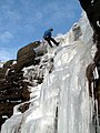 Ice climber Abseiling back down - geograph.org.uk - 1633584.jpg