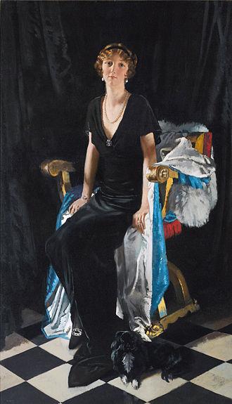 Lady Idina Sackville - Idina Wallace, by William Orpen